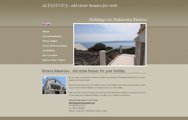 ALTANUOVA - old stone houses for rent